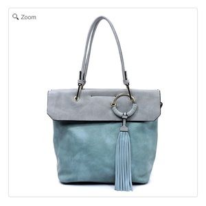 Handbags - NEW Fashion Tassel Colorblock Satchel
